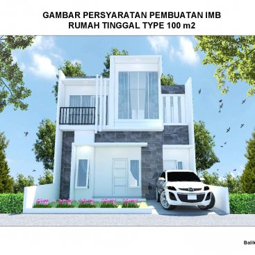 Soft Drawing IMB Rumah Type 100 m2